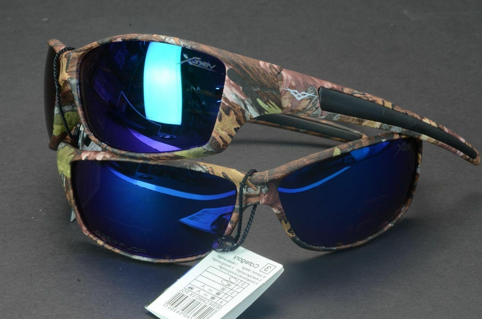 VERTX POLARIZED NEW CAMO HUNTING FISHING OUTDOOR SPORT SUNGL