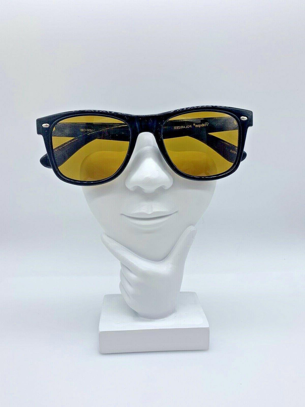 polarized psx01 retro 80 s sunglasses black