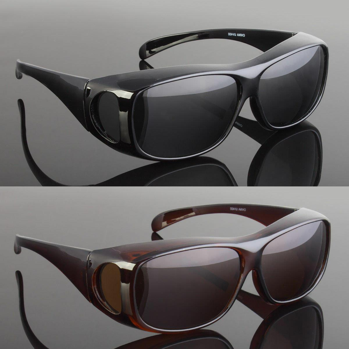 polarized solar shield fit over sunglasses cover