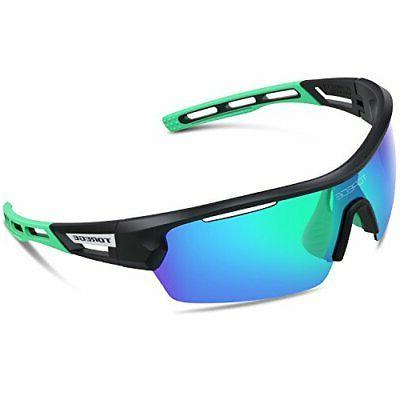 767452e135 Torege Polarized Sports Sunglasses for Men Women Cycling Run