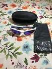 Duduma Polarized Sports Sunglasses- White & Blue