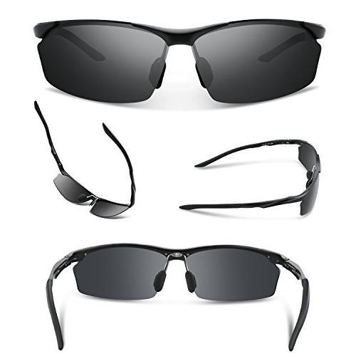 TOREGE Style Polarized Sunglasses Al-Mg Frame Glasses