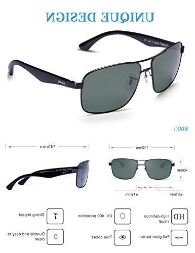 Carfia Polarized Sunglasses for Men, Designer UV400