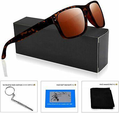 Polarized Sunglasses for Women Vintage Rectangular Su