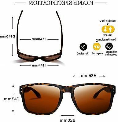 Polarized Sunglasses Women Driving Vintage Rectangular Su