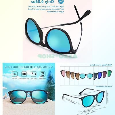 Carfia Polarized Sunglasses for Women Vintage 100% Protection