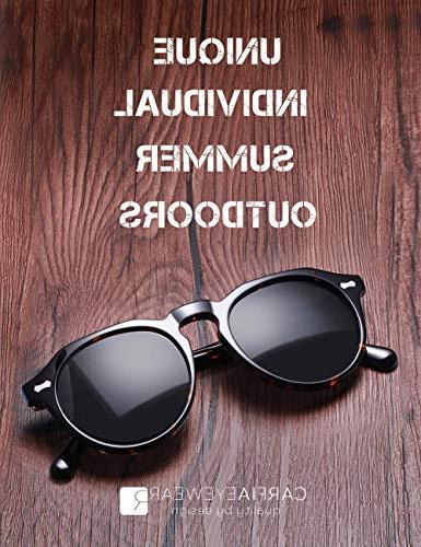 Carfia Sunglasses Women Men丨Vintage Sunglasses with UV400 Protection