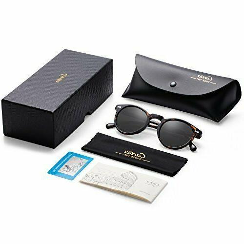 Carfia Polarized Sunglasses for Women丨Vintage Case丨100