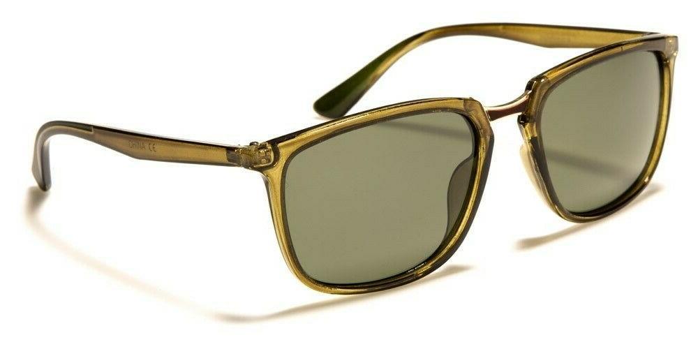 Womens Mens Polarized Sunglasses Translucent Retro Frame Sha