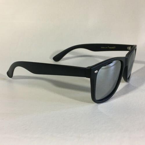 Polarspex Sunglasses Squared Silver Black Mirrored