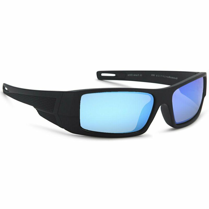 Gamma Ray Optics Polarized Sunglasses Sport Wrap Mirror Lens