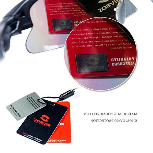 RIVBOS Sports Sunglasses Sun with 5 Interchangeable Color