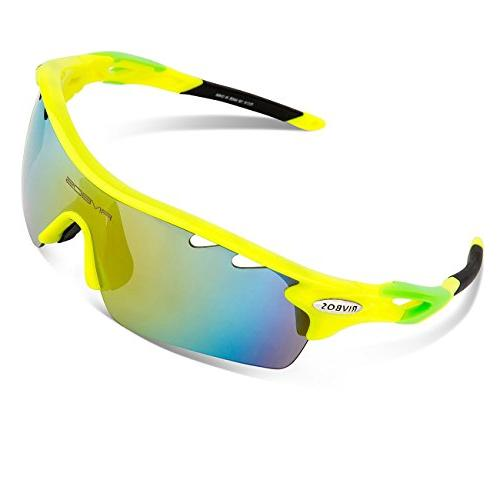 RIVBOS Polarized Sun Glasses 5 Interchangeable Fluorescent Color