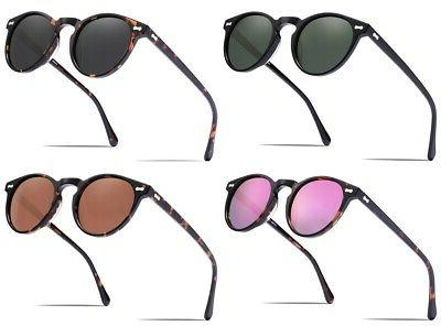 polarized sunglasses unisex vintage round glasses