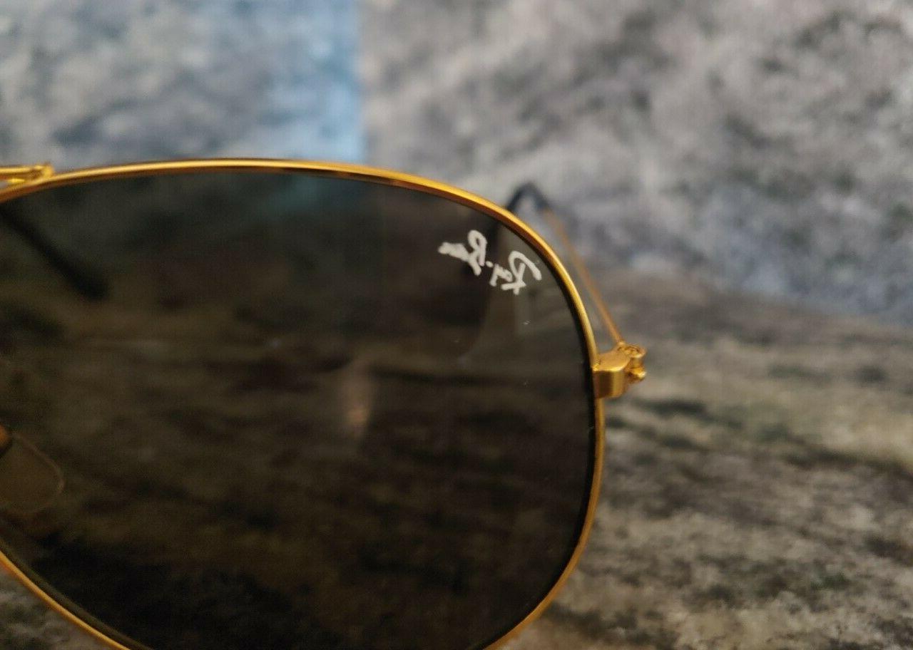 ray ban aviator black lens gold frame