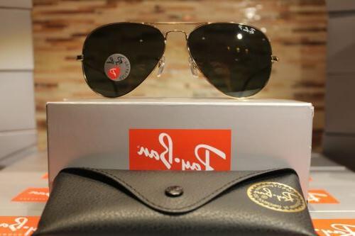 21c195577967 Ray-Ban Aviator Polarized Sunglasses RB3025 001/58 58mm Gold