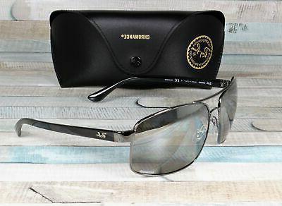 ray ban chromance sunglasses gunmetal w silver