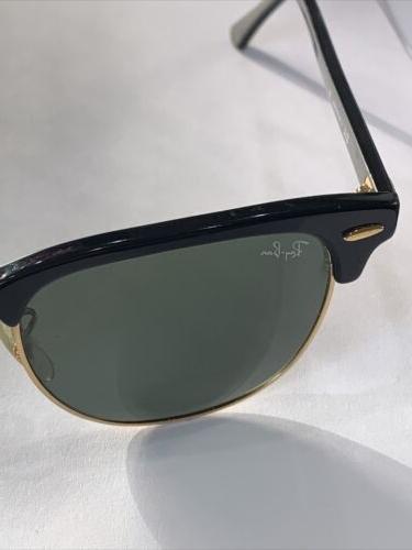 RAY Green Lens Black Sunglasses
