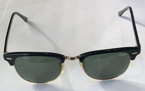 ray ban clubmaster green lens black frame