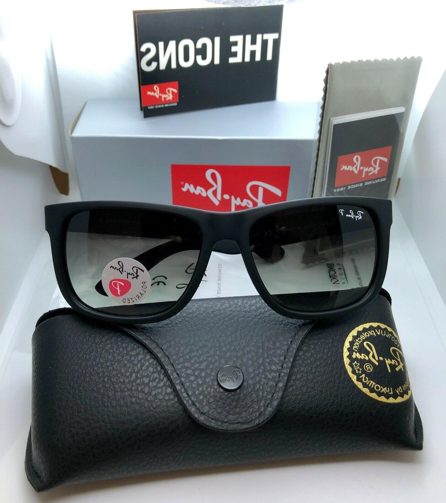Ray Ban Justin Polarized Rb4165 622 T3 54mm Matte Black