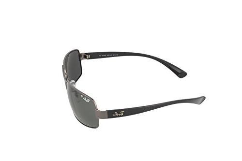 Ray Ban Men's RB3379 004/58 Gunmetal/Green, 64mm Sunglasses