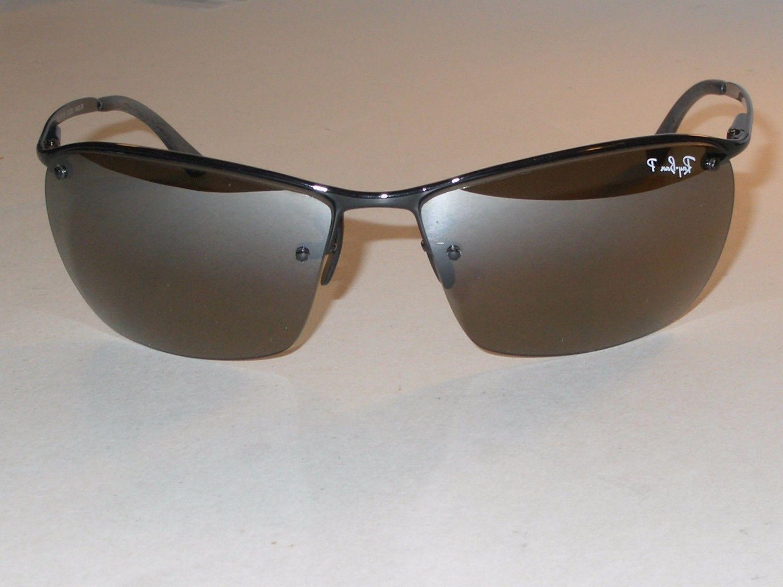 ray ban chromance metal frame grey lens sunglasses rb3544
