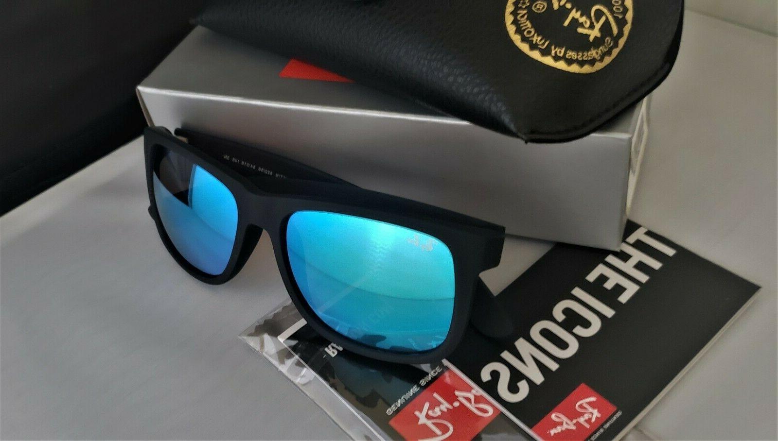 NEW!!! Ray Ban RB4165 622/55 JUSTIN Matte Black/ Sunglasses