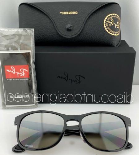 Ray-Ban RB4263 Sunglasses Shiny Black Silver POLARIZED