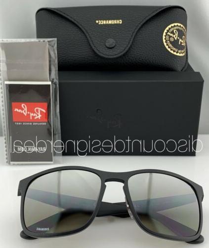 Ray-Ban Sunglasses 601S5J Matte Black Silver POLARIZED