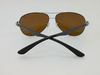 Ray RB 004/N3 Carbon Polarized Gold Aviator Sunglasses