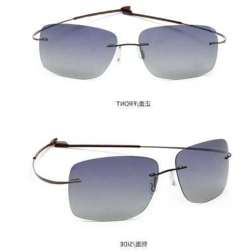 Fashion Unisex 2019 Rimless Sunglasses Titanium Frames Polar