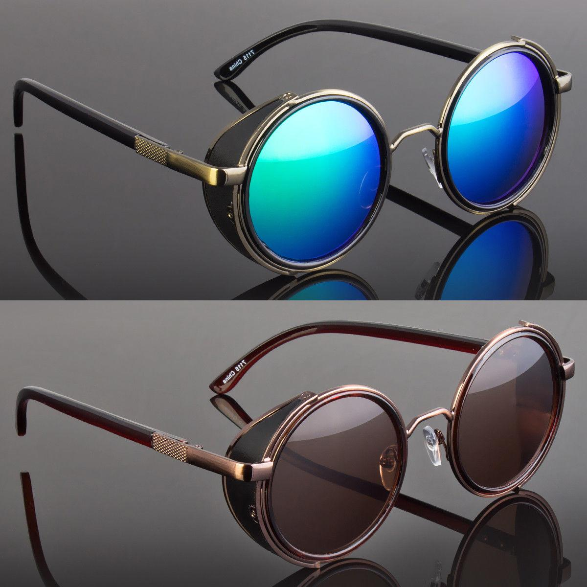 Round Metal Sunglasses Steampunk Men Women Fashion Glasses B