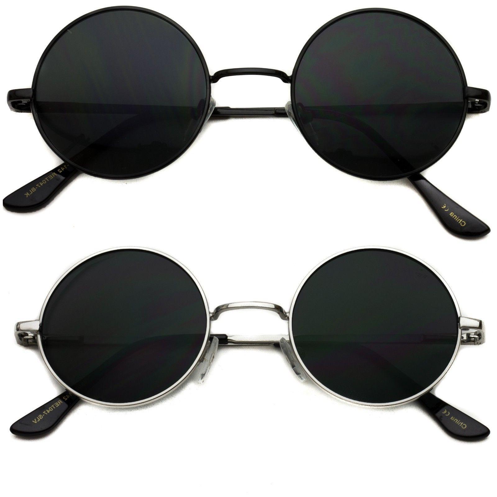 Small John Lennon Sunglasses Round Hippie Hipster Retro Gold