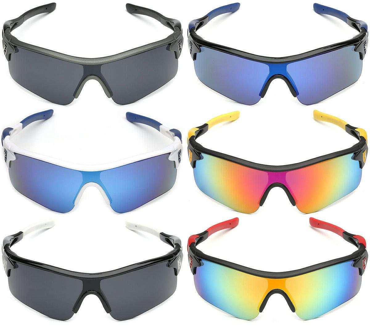 Sport Men Cycling Golf Ski Sunglasses Color Mirror Lens Glasses