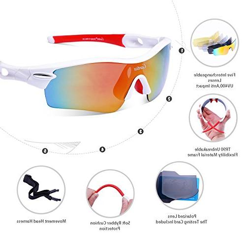 Sport Polarized for Men and Interchangeable Lenses, Cycling Unbreakable UV400