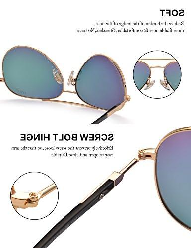 Womens Polarized Pink - UV 400 Protection Gold 60mm