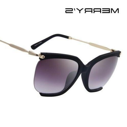 sunglasses classic semi rimless frame designer metal