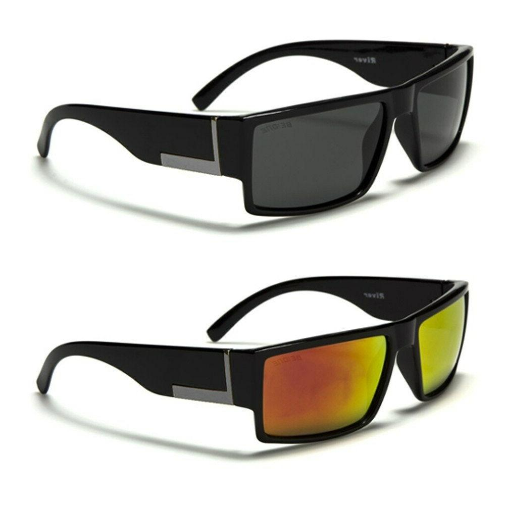thick and solid rectangle men s polarized