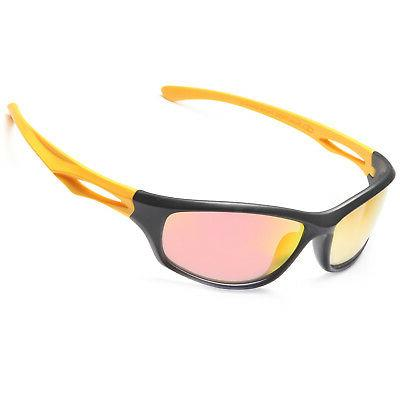 tr90 unbreakable frame polarized sports sunglasses w