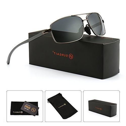 9a124bef63f1d SUNGAIT Ultra Lightweight Rectangular Polarized Sunglasses 100% UV