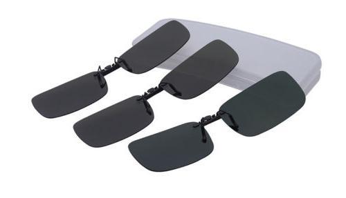2Pcs Stylish Women Unisex Sunglasses Clip On