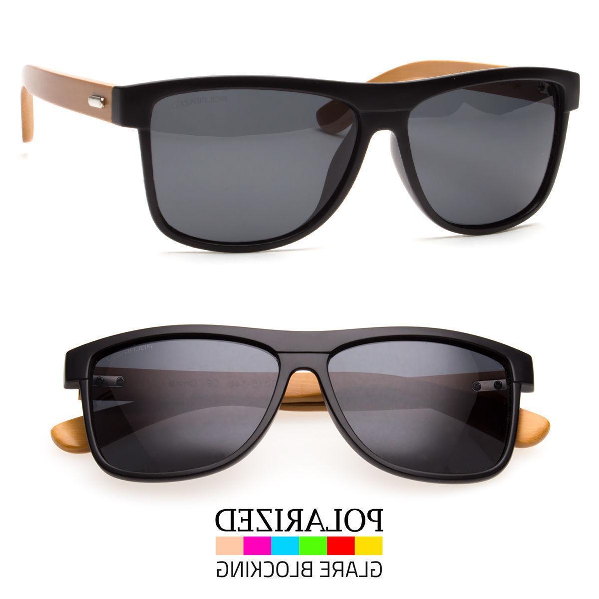vintage men women bamboo sunglasses polarized wooden