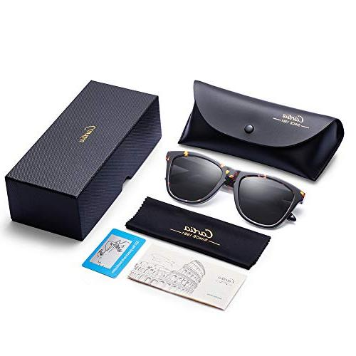 Carfia Polarized Mens Sunglasses Case丨100%
