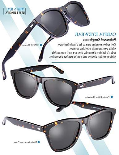 Carfia Vintage Polarized Sunglasses Case丨100% Protection