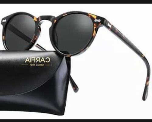Vintage Round Sunglasses - Carfia Polarized Sunglasses for W