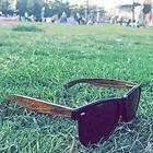 WOODIES Wayfarer Walnut Wood Sunglasses / Black Polarized Le