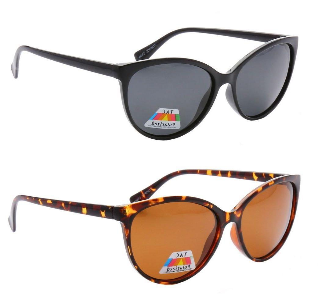 Women's Cat Eye POLARIZED Sunglasses Retro Classic Vintage D