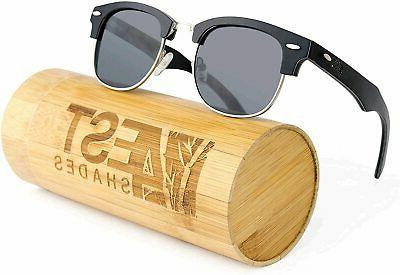 4EST Shades Rimless Sunglasses Wooden, Black, Size