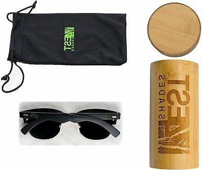 4EST Shades Rimless Sunglasses Handmade Wooden, Black, Size Small uN3v