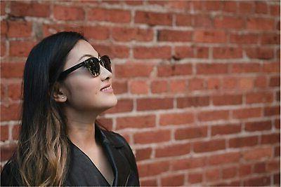 wood rimless sunglasses handmade wooden black size